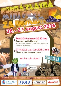 Mini fest za domom @ Horná Zlatná | Zlatná na Ostrove | Nitriansky kraj | Slovensko