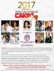 Cakecup (tortaverseny) Kricky Cakes & Airbrush szervezésében @ Arany 17 Rendezvényközpont és Kávézó   Komárom   Maďarsko