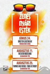 Zenés Nyári Este-Twinner and Friends/ Tomek Retroboy @ Szabadság tér | Komárom | Maďarsko