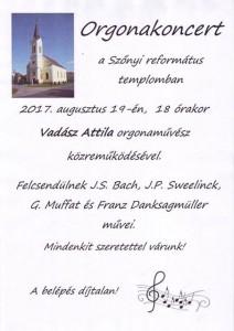 Orgonakoncert @ Szőnyi református templom | Komárom | Maďarsko
