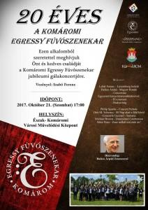 20 éves a Komáromi Egressy Fúvószenekar - Jubileumi gálakoncert @ VMK | Nitriansky kraj | Slovensko